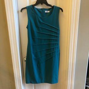 Calvin Klein Teal sleeveless dress size 12